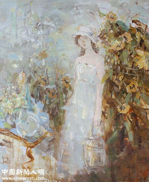 骆杨《心事系列之二》  油画120 ×150cm
