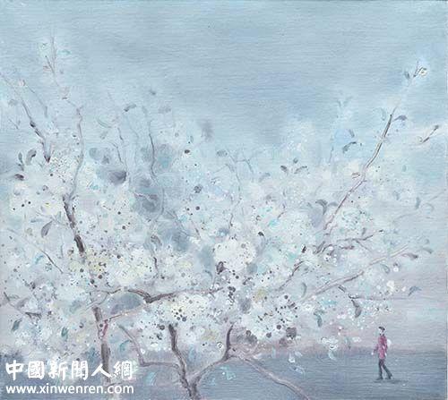 马贵中《花开时节》油画45cmx50cm